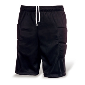 Goalkeeper shorts. Side and knee patch quilted insertions. Elastic waist with adjustable drawcord. | 0486_02