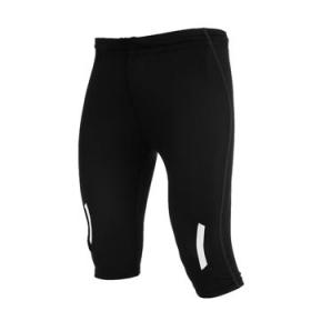 Colanți sport unisex, până la genunchi, cu bandă reflectantă pe partea din față și spate. Betelie elastică cu șnur interior reglabil și cusături exterioare în contrast. | 0493_02