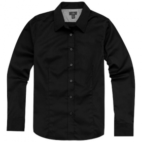 Wilshire Lds ls Shirt,Black,L | 3817399