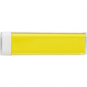 ABS power bank with Li-ion battery, Yellow | 4200-06
