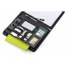 A4 Svepa PU document folder, integrated power bank, Grey | 6729-03