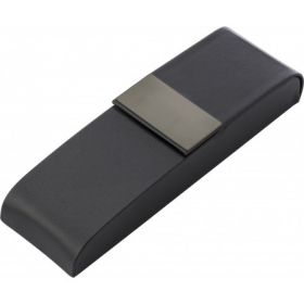 PU luxurious black pen case, suitable for two pens, Black | 7130-01