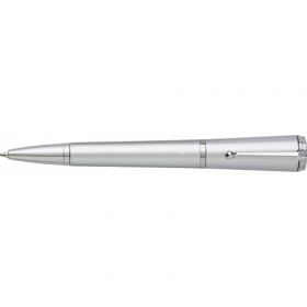 Plastic twist ballpen, with one LED light on top, Silver | 5470-32