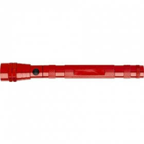 Telescopic aluminium flash light, Red | 6639-08