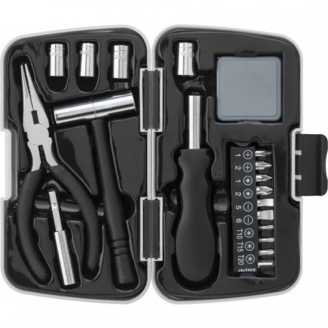 26pcs aluminium and metal toolset, Light grey | 7159-27
