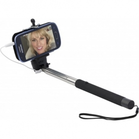 ABS telescopic selfie stick, Black | 9219-01