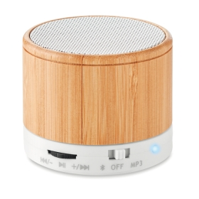 Boxă rotundă Bluetooth bambus  MO9608-06 | MO9608-06